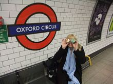 Eating cupcakes in Oxford Circus