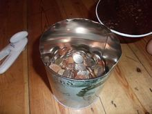 A pile of coins I