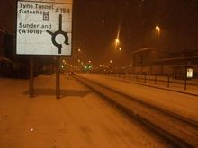 Snowing at 2am on New Years Day
