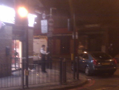 Costcutter Commercial Road cordoned off